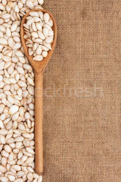 wooden spoon with pumpkin seeds Stock photo © alekleks