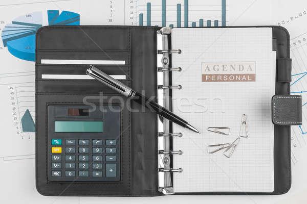 дневнике клипа пер используемый бумаги Сток-фото © alekleks