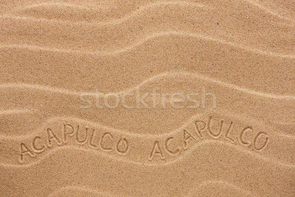 Felirat hullámos homok textúra buli háttér Stock fotó © alekleks