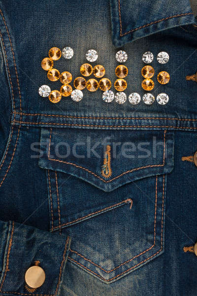 Word sale made of rhinestones Stock photo © alekleks