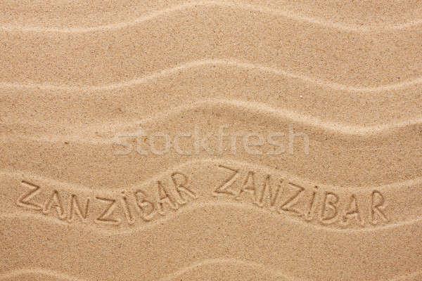 Ondulado areia praia textura verão Foto stock © alekleks