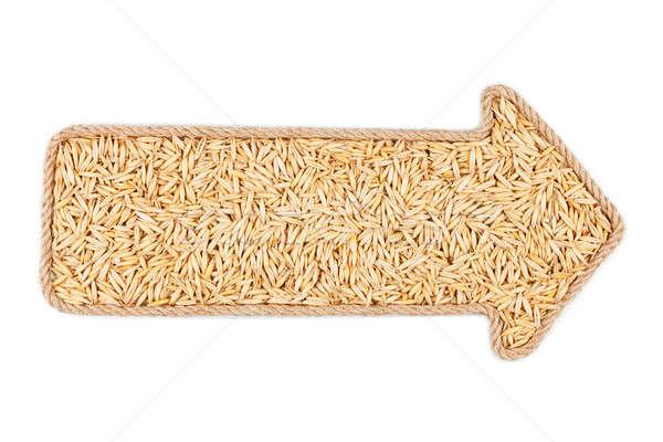 Arrow made of rope with oats Stock photo © alekleks