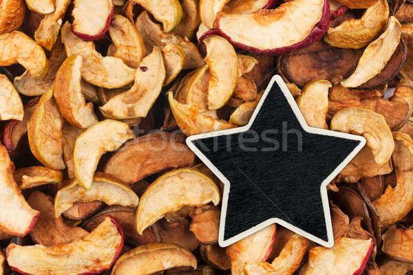 Star, pointer, price, tag, lies on dried  apple Stock photo © alekleks