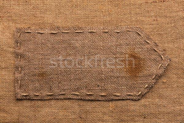 Seta pano de saco mentiras usado assinar escuro Foto stock © alekleks