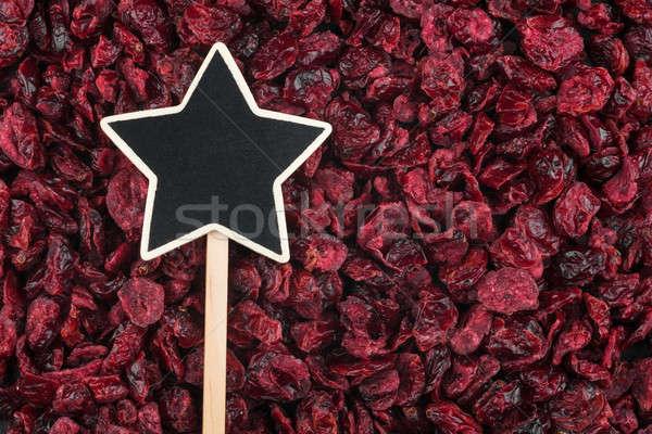 Pointer, the sign lies on cranberry Stock photo © alekleks