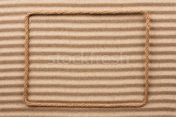 кадр веревку песок место дизайна фон Сток-фото © alekleks