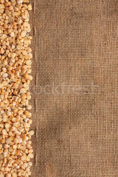 Dried peas lying on sackcloth  Stock photo © alekleks