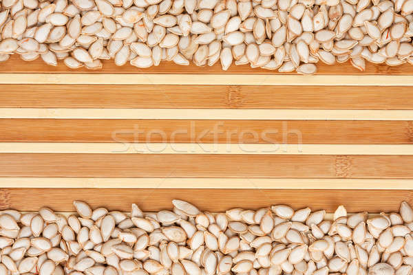 pumpkin seed  on a bamboo mat Stock photo © alekleks