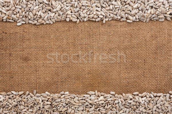 sunflower seeds  were lying on sackcloth Stock photo © alekleks