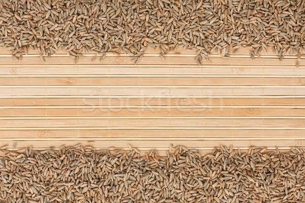 Rozs bambusz hely szöveg étel háttér Stock fotó © alekleks