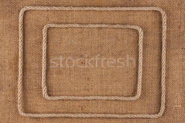 Dois quadro corda mentiras pano de saco lugar Foto stock © alekleks