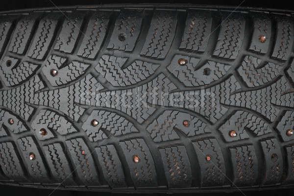 Velho pneu lata usado estrada caminhão Foto stock © alekleks