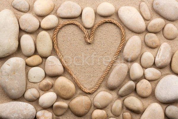 красивой кадр веревку форме сердце белый Сток-фото © alekleks