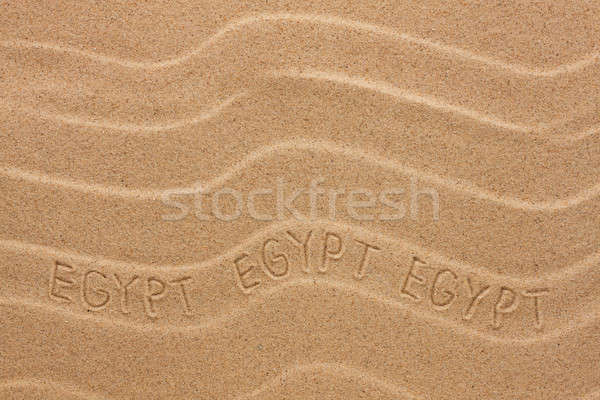Egypt inscription on the wavy sand Stock photo © alekleks