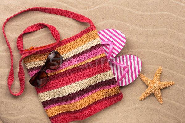 óculos de sol starfish férias de verão moda Foto stock © alekleks