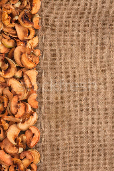 Dried apples lying on sackcloth Stock photo © alekleks
