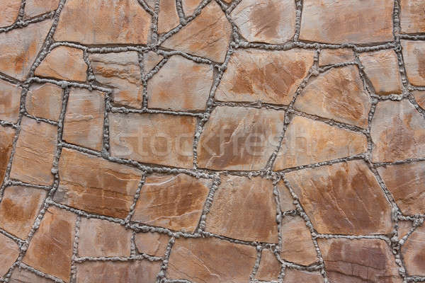 Wall from a natural stone with cement seams Stock photo © alekleks