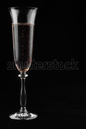 Champagne symbolique coeur noir mariage Photo stock © alekleks