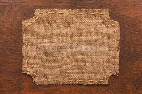 Cadre toile de jute mensonges bois lieu texture Photo stock © alekleks
