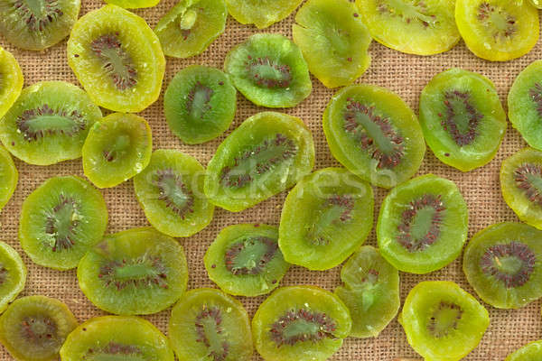 Background, kiwi  lying on sackcloth Stock photo © alekleks