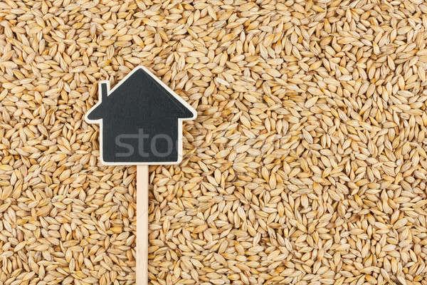 Huis prijs tag gerst ruimte Stockfoto © alekleks