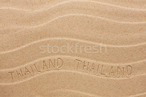 Tailândia ondulado areia praia textura Foto stock © alekleks