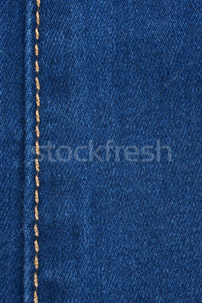 Yellow seam on denim Stock photo © alekleks