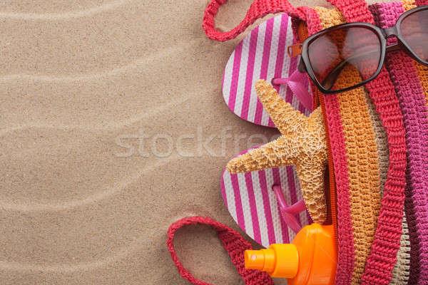 Praia areia lugar moda sol Foto stock © alekleks