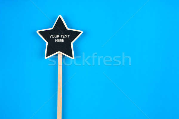Star ruimte tekst Blauw ontwerp Stockfoto © alekleks