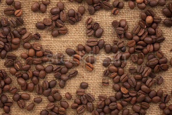 Grains de café toile de jute peuvent utilisé alimentaire design Photo stock © alekleks