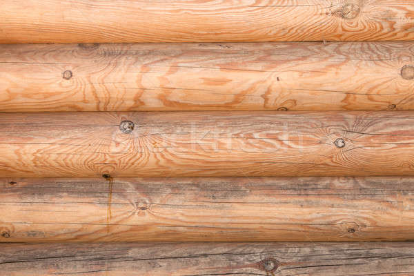 Closeup texture of the walls made of logs in the sunlight through the clouds Stock photo © alekleks