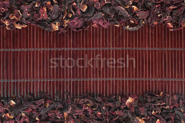 Aszalt hibiszkusz sötét bambusz űr szöveg Stock fotó © alekleks