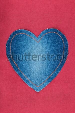 Hart denim weefsel Geel Rood witte Stockfoto © alekleks