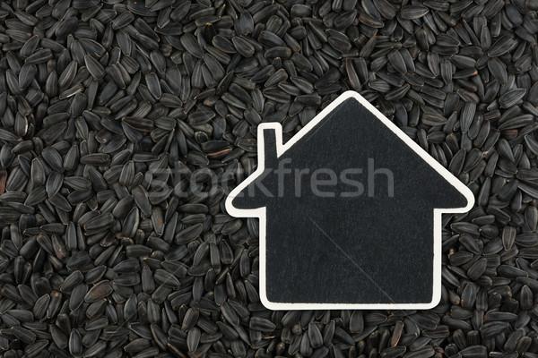 Casa preço membro mentiras girassol semente Foto stock © alekleks