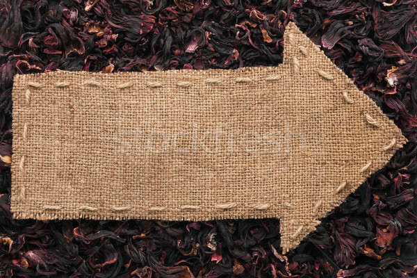 Pointer of  burlap lies on  hibiscus Stock photo © alekleks