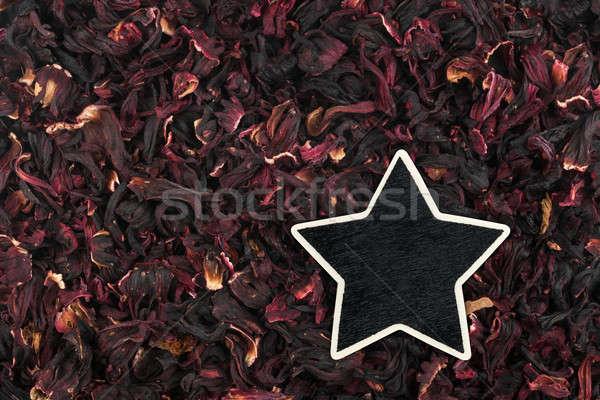 звездой цен тег Ложь гибискуса пространстве Сток-фото © alekleks