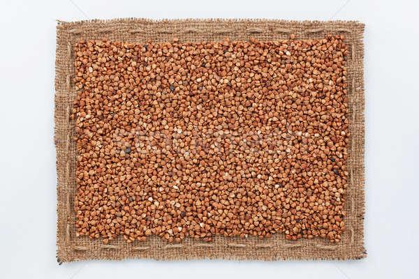 フレーム 黄麻布 穀物 暗い 白 パターン ストックフォト © alekleks