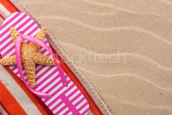 Starfish praia moda sol projeto fundo Foto stock © alekleks