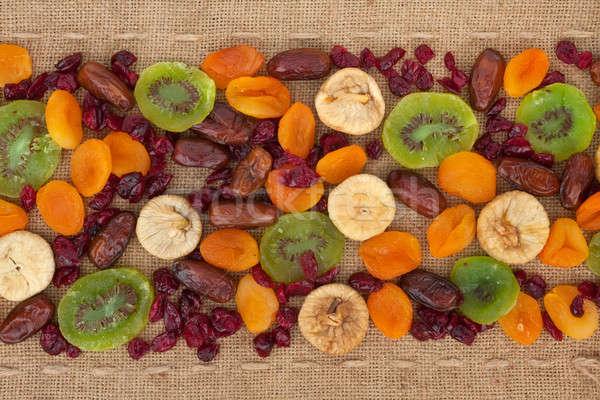 Meyve çuval bezi can kullanılmış gıda arka plan Stok fotoğraf © alekleks
