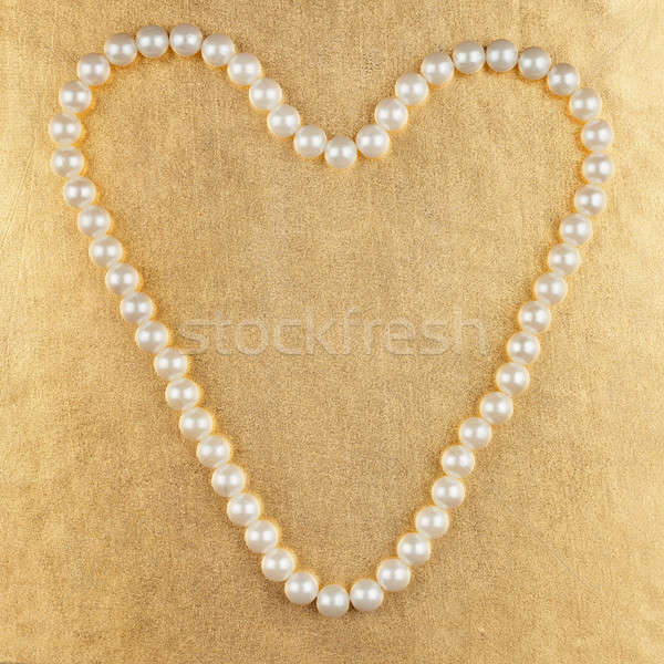 Symbolic heart of beads Stock photo © alekleks