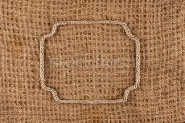 Frame made of rope with space for your text Stock photo © alekleks