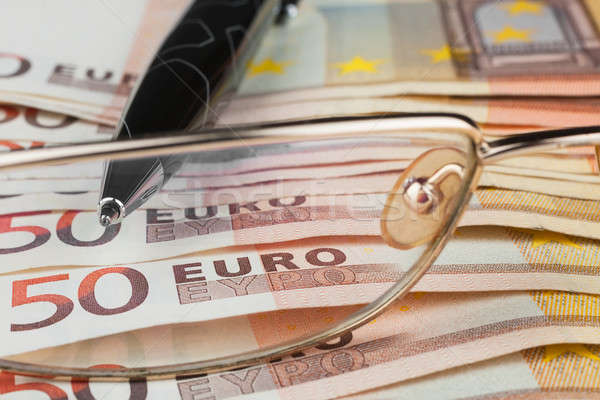 The handle and glasses  is on the euro Stock photo © alekleks