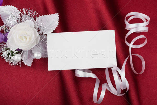 Wedding picture with a  card for your text Stock photo © alekleks