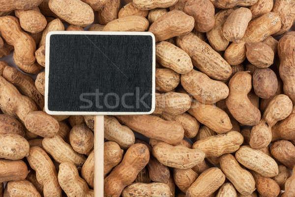 Prezzo tag bugie arachidi spazio segno Foto d'archivio © alekleks