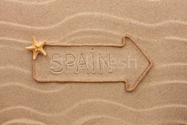 矢印 ロープ 海 シェル 言葉 スペイン ストックフォト © alekleks