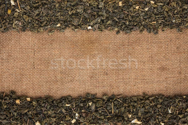 Green tea  were lying on sackcloth Stock photo © alekleks