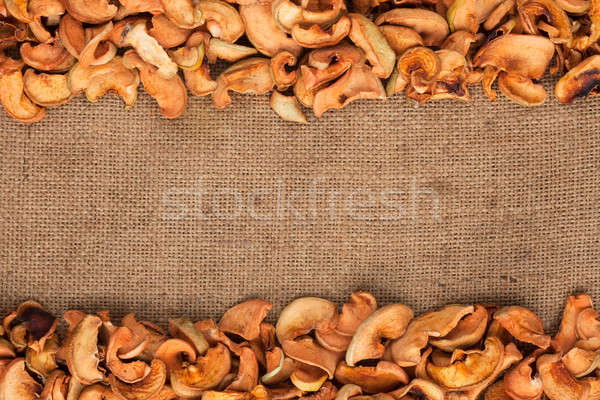 dried apple  were lying on sackcloth Stock photo © alekleks