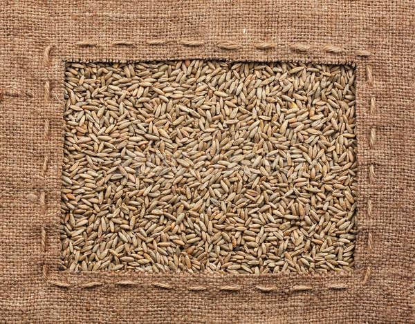 Quadro pano de saco centeio usado comida natureza Foto stock © alekleks
