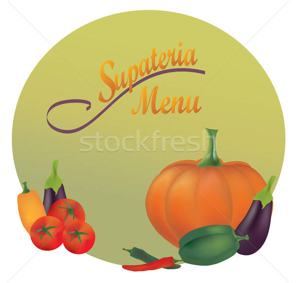 Stock photo: Restaurant Menu Design. Vector Cover