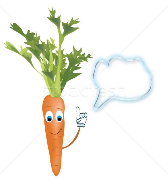 Praten wortel vector plantaardige spreken bubble Stockfoto © Aleksa_D